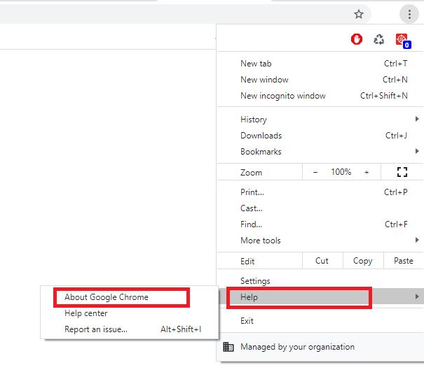 Update Chrome on Desktop